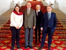 de gauche à droite : Kalliopi Ango Ela, Richard Yung, Claudine Lepage et Jean-Yves Leconte