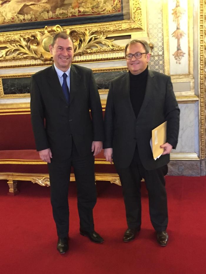 Rajko Ristic, Ambassadeur de Serbie, et le Sénateur Jean-Yves Leconte
