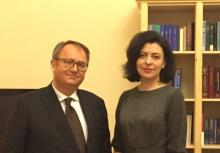 Avec Oksana Siroyid, vice-Présidente de la Rada d'Ukraine